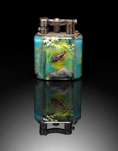 DUNHILL: A 'Miniature Aquarium' lighter