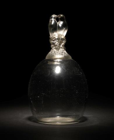 Rene Lalique 'Tourterelles' a Vase, design 1925