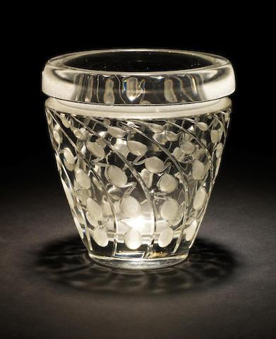 René Lalique 'Lemna', a Vase, design 1934