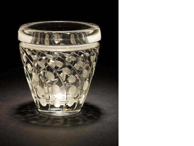 Rene Lalique  'Lemna', a Vase, design 1934