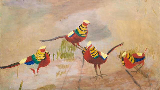 Mary Newcomb (British, 1922-2008) Golden Pheasants
