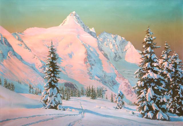 Friedrich Albin Koko-Mikoletzky (1889-1981) Austrian mountain scene