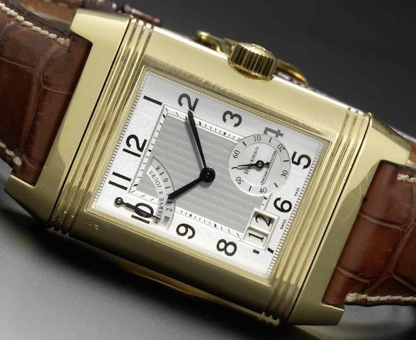 Jaeger-LeCoultre. An 18ct gold reversible wristwatch with 8-day power reserveReverso Grande, Ref:Q3001420, Sold 17th May 2005