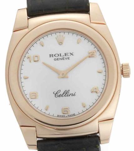 Rolex. An 18ct rose gold manual wind wristwatch Cellini, Ref:5320/5, Circa 1998