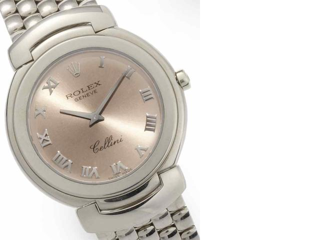 Rolex. An 18ct white gold quartz bracelet watch Cellini, Ref:6622/9, Circa 1991