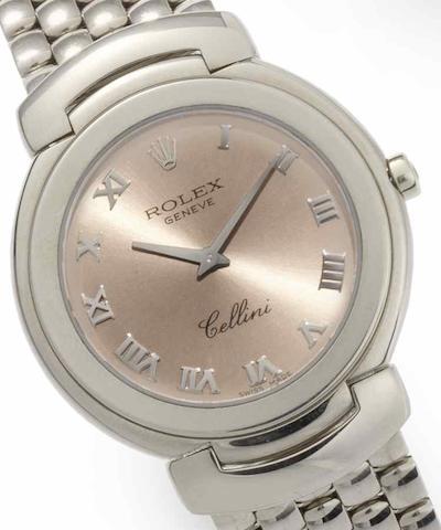 Rolex. An 18ct white gold quartz bracelet watch Cellini, Ref:6622/9, Circa 1991