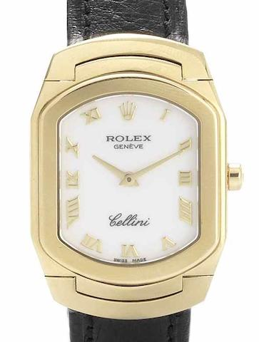 Rolex. A lady's 18ct gold quartz wristwatch Cellini, Ref:6631/8, Circa 2008