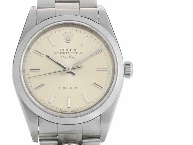 Rolex. A stainless steel automatic bracelet watch Air-King, Ref:14000M, Circa 2000