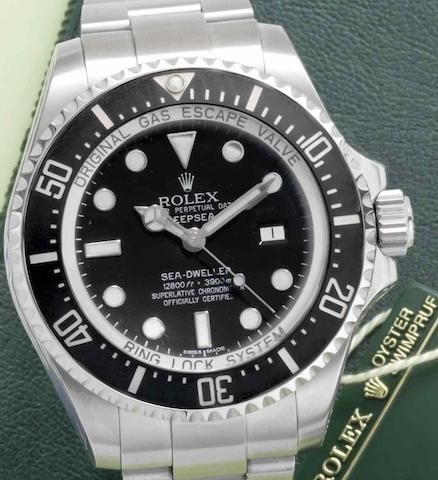 Rolex. A stainless steel automatic calendar bracelet watch Sea-Dweller Deep-Sea, Ref:116660, Circa 2008