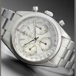 Rolex. A fine and historically interesting stainless steel chronograph wristwatch presented to Chris Conn by Rolex for Winning the 1963 Malaysia Grand Prix Oyster Chronograph, Anti-Magnetic, Ref:6234, Case No.530***, Made in 1959