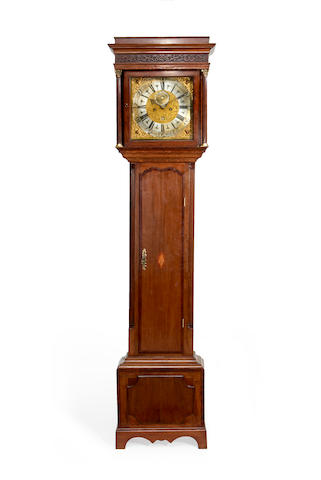 An 18th century and later mahogany inlaid oak longcase clockDial signed John Smith, Chester