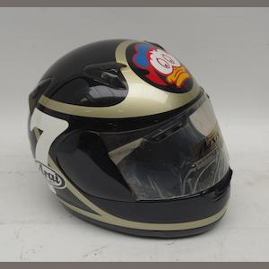 A Barry Sheene limited edition replica helmet, by Arai,