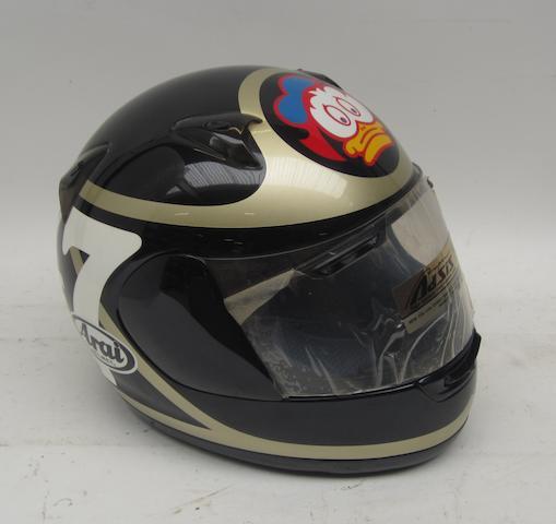 A Barry Sheene limited edition replica helmet, by Arai,