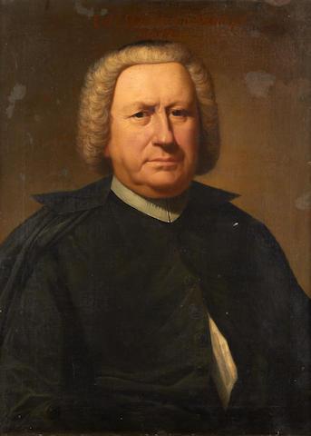 Dutch School, 18th Century Portrait of man in black