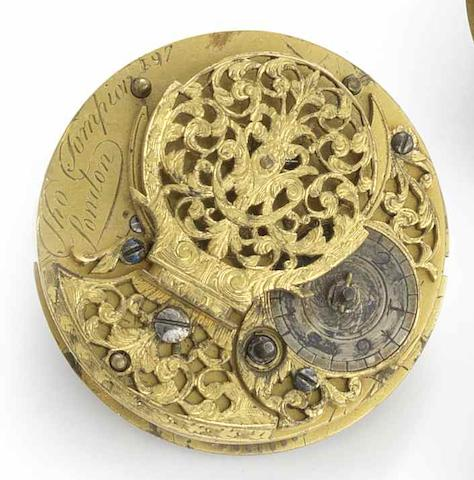 Thomas Tompion. An incomplete verge pocket watch movement Numbered 197, ??