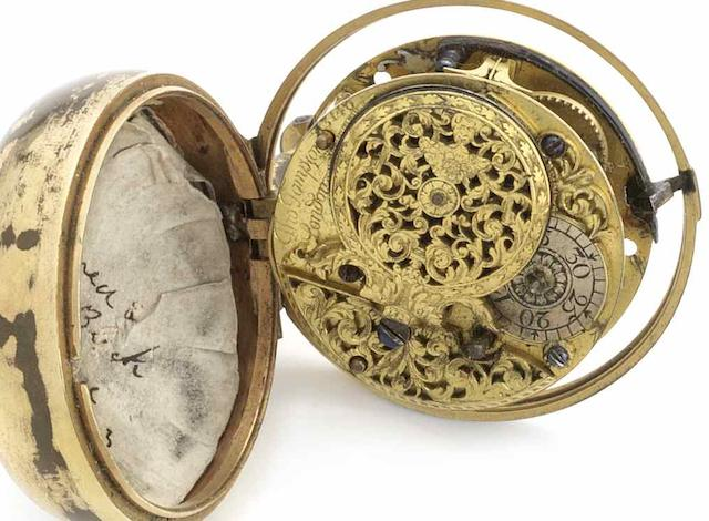 Thomas Tompion. A full plate verge pocket watch movement No.3140, Circa 1700