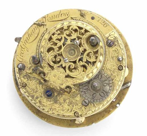 George Graham. An important repeating verge clock watch movementNo.126, Circa 1700