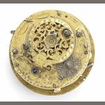 George Graham. An important repeating verge clock watch movement No.126, Circa 1700
