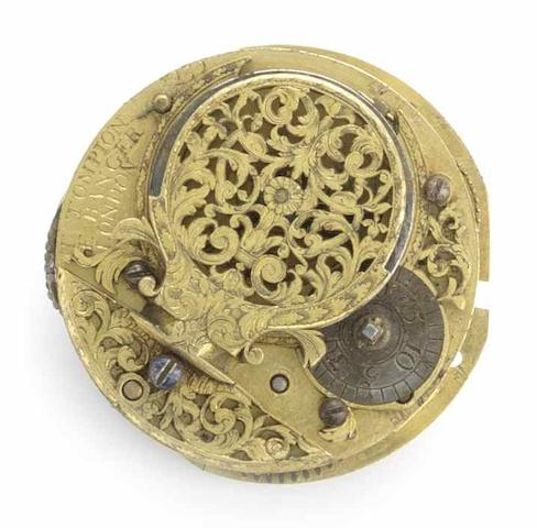 Tompion & Bangor. An early 18th century verge pocket watch Movement No.3239, Circa 1701