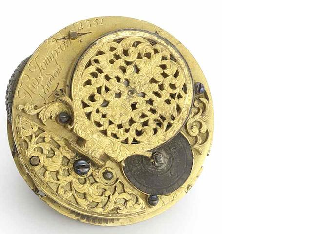 Thomas Tompion. A rare full plate verge movement No.2351, Circa 1697