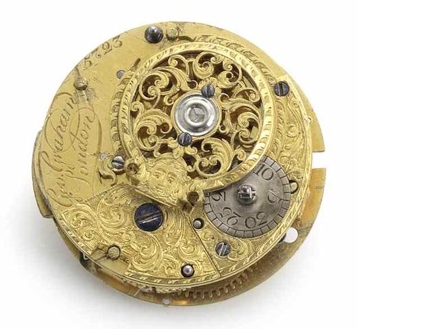 George Graham. An interesting fusee movement with cylinder escapement No.5723, Circa 1736/37