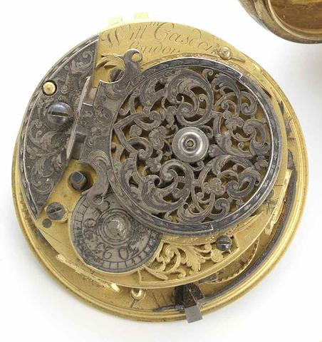 William Gasdon. An early 18th century fusee verge movement Circa 1720