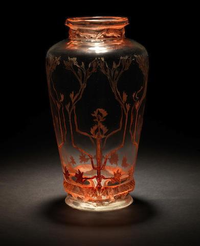 René Lalique 'Frise Aigles' a Vase Verre Soufflé-Moulé ,design 1911