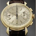 Vacheron Constantin. A very fine and rare 18ct gold manual wind chronograph wristwatch Ref:4178, Movement No.437496, Case No.283901, Made in 1944