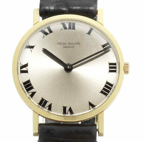 Patek Philippe. An 18ct gold manual wind wristwatch Ref:3512, Case No.324470, Movement No.1135569,  Circa 1965
