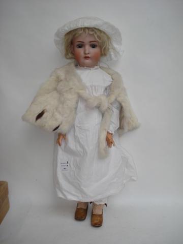 Large Bruno Schmidt 136 bisque head doll
