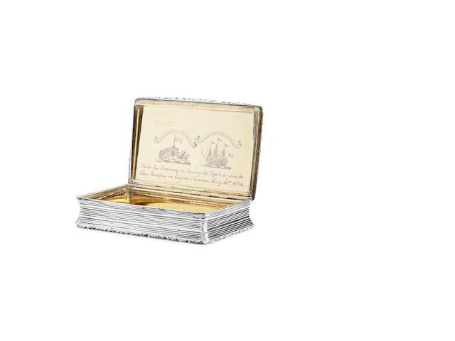 An interesting George IV snuff box By Thomas Shaw, Birmingham 1829