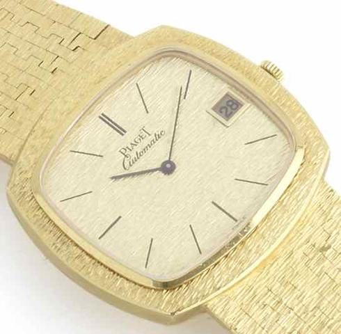 Piaget. An 18ct gold automatic calendar bracelet watch Birmingham Import Mark for 1972