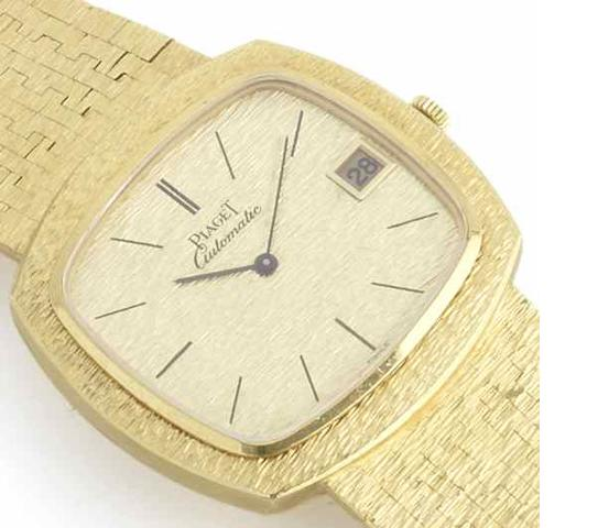 Piaget. An 18ct gold automatic calendar bracelet watch Birmingham Import Mark for 1972