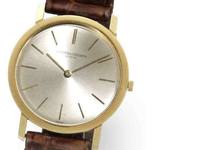 Vacheron & Constantin. An 18ct gold manual wind wristwatch Ref:6351, Case No.403087, Movement No.575567, Circa 1962