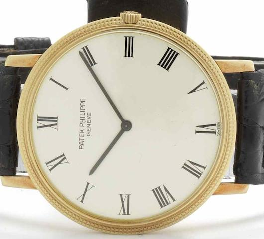 Patek Philippe. An 18ct gold automatic wristwatch Calatrava, Ref:3588, Case No.2714732, Movement No.1280086, Circa 1970