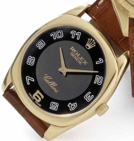 Rolex. An 18ct gold manual wind wristwatch Cellini, Ref:4233, Serial No.A994***, Circa 1998