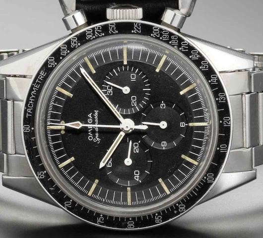 Omega. A stainless steel manual wind chronograph bracelet watchSpeedmaster, Ref:105.003, Made in 1963