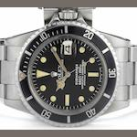 Rolex. A stainless steel automatic bracelet watch Submariner, Ref:1680, Serial No.5580***, Circa 1978