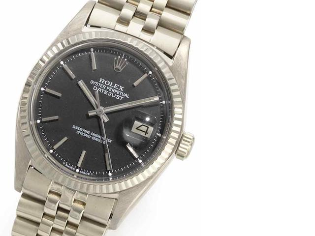 Rolex. An 18ct white gold automatic calendar bracelet watch Datejust, Ref:1601, Serial No.2864***, Circa 1969