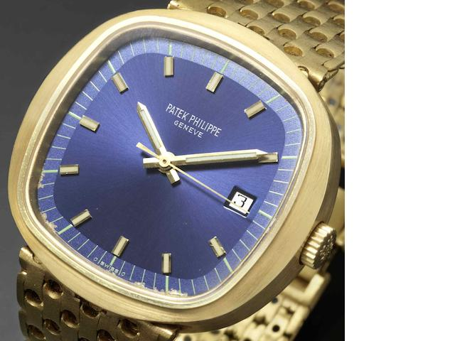 Patek Philippe. A fine and rare 18ct gold quartz bracelet watch Ref:3597/2, Case No.2720552, Movement No.00005941, Circa 1970