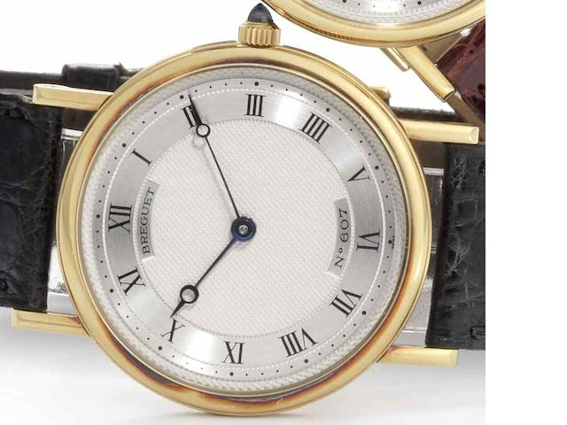 Breguet. An 18ct gold manual wind wristwatch Marine, No.607, Circa 1990