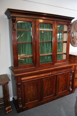 A small Victorian mahogany library bookcase