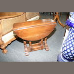 A small oak gateleg table