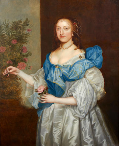 Follower of Sir Anthony van Dyck (Antwerp 1599-1641 Blackfriars) Portrait of a lady