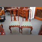 A set of six Queen Anne-style mahogany dining chairs by Waring & Gillow