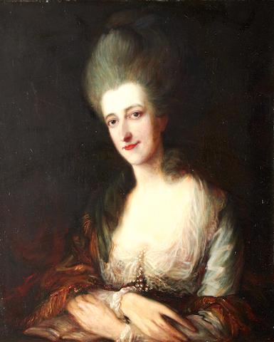 After Thomas Gainsborough, 19th Century Portrait Lady Dorothea Eden