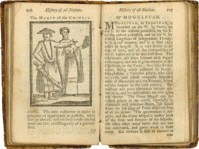 HISTORY OF ALL NATIONS The History of All Nations. Giving a Brief and Entertaining Account of the Situations, Customs, Manners... in Every Country throughout the Known World, 1763