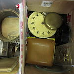 A collection of various clock and watch parts; (Qty)