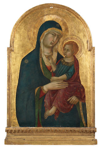 Niccoló di Segna (Active in Siena, first half of the 14th Century) The Madonna and Child