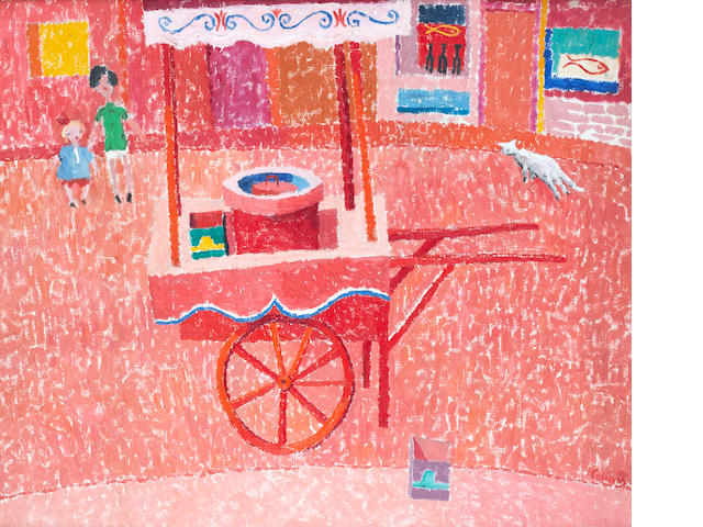 Colin Middleton R.H.A. (Irish, 1910-1983) The Ice Cream Cart 50.6 x 60 cm. (20 x 23 5/8 in.)